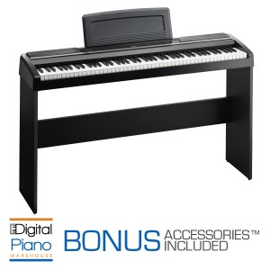 Korg SP170S Digital Piano & Stand - Black