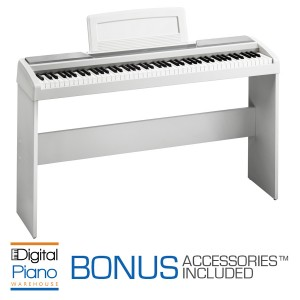 Korg SP170S Digital Piano & Stand - White