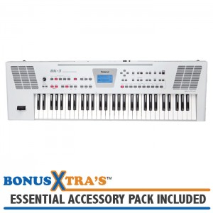Roland BK-3 Backing Keyboard - White