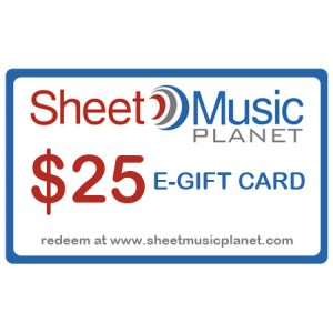 $25 E-Gift Card from Sheet Music Planet.com