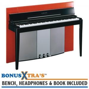 Yamaha F02 MODUS Digital Piano - Polished Orange