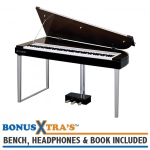 Yamaha H01 MODUS Digital Piano - Deep Brunette