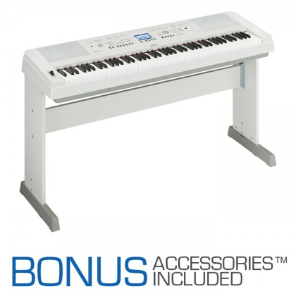 Yamaha DGX-650 Digital Piano - White