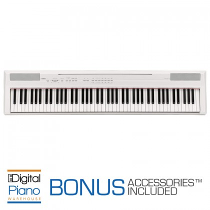 Yamaha P105 Digital Piano - White